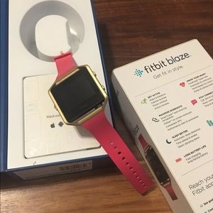 Fitbit Blaze Pink with Gold